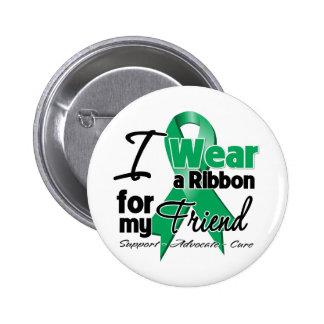 Friend - Liver Cancer Ribbon.png 6 Cm Round Badge