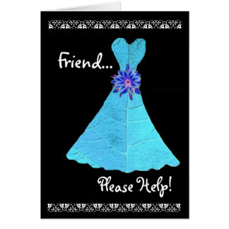 FRIEND Maid of Honour Invitation TURQUOISE Gown