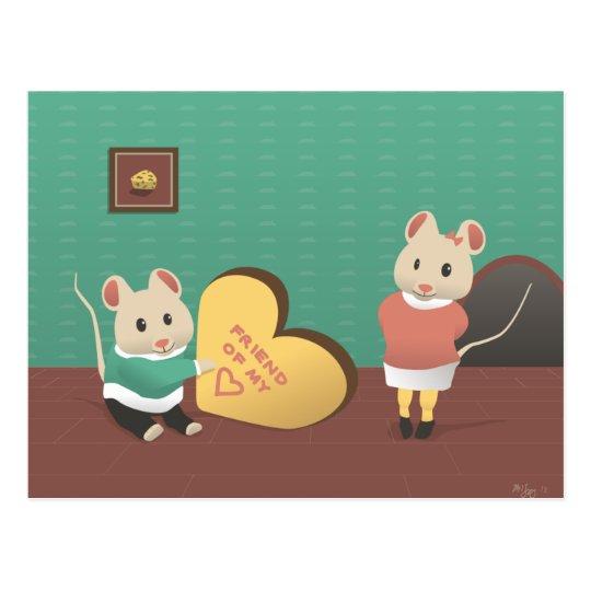 Friend of my Heart Postcard