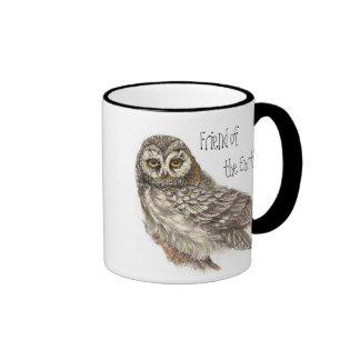 Friend of the Earth, Earth Day, Owl Bird Mug