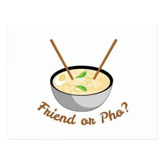 Friend Or Pho Postcard