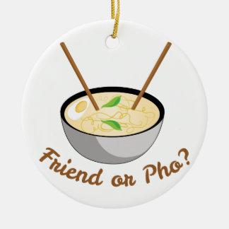 Friend Or Pho Round Ceramic Decoration