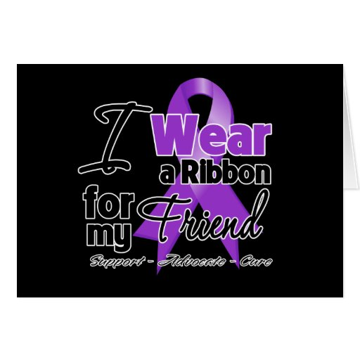 Friend - Pancreatic Cancer Ribbon Greeting Cards