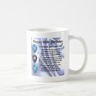 Friend Poem  60th Birthday Basic White Mug