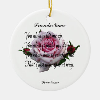 FRIEND QUOTE CHRISTMAS ORNAMENT