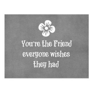 Friend Quote Postcard
