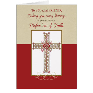 Friend, RCIA Blessings on Profession of Faith, Cro Greeting Card