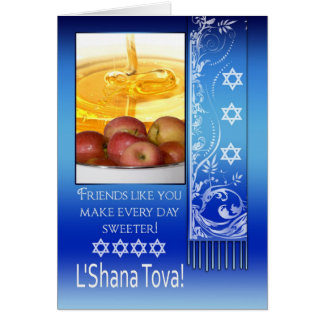 Friend, Rosh Hashanah Jewish New Year - L'Shana To Greeting Card
