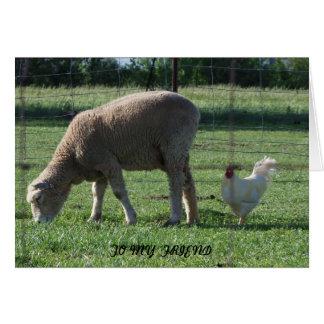 Friend, Sheep & Chicken Card
