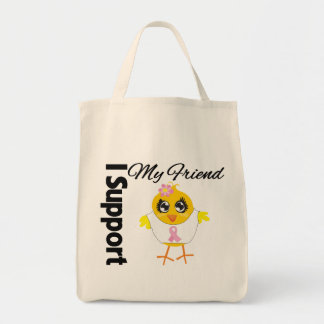 Friend Support Breast Cancer Canvas Bag