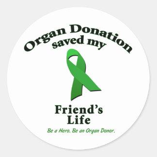 Friend Transplant Classic Round Sticker
