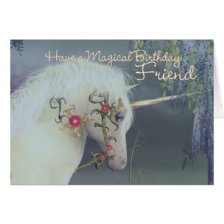Friend Unicorn Birthday Card Magical Birthday