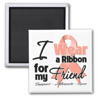 Friend - Uterine Cancer Ribbon Square Magnet