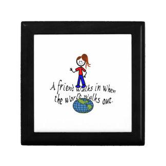 Friend Walks In Small Square Gift Box
