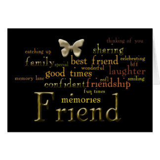 Friend Word Art Card