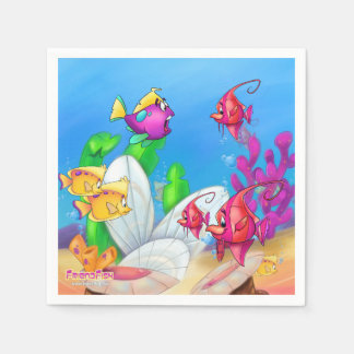 Friendfish cartoon napkins disposable serviette