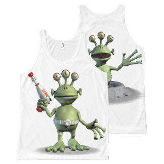 Friendly Alien All-Over Print Tank Top