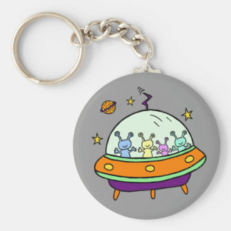 Friendly Aliens Key Ring