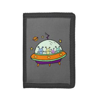Friendly Aliens Tri-fold Wallet
