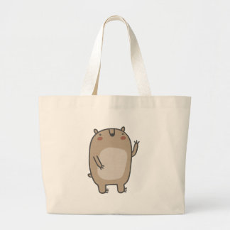 Friendly Bear Large Tote Bag