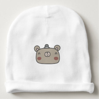 Friendly Bear With Hat Baby Beanie