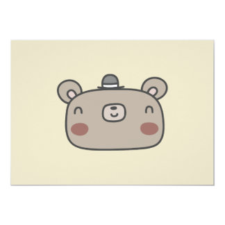 Friendly Bear With Hat Card