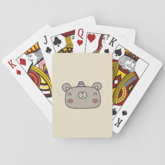 Friendly Bear With Hat Playing Cards