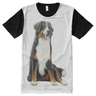 Friendly Bernese Mountain Dog Shirt All-Over Print T-Shirt