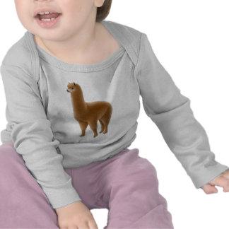 Friendly Brown Alpaca Infant Long Sleeve Tee Shirt