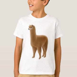 Friendly Brown Alpaca Kids T-Shirt