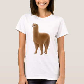 Friendly Brown Alpaca Ladies Babydoll T-Shirt