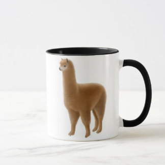 Friendly Brown Alpaca Mug