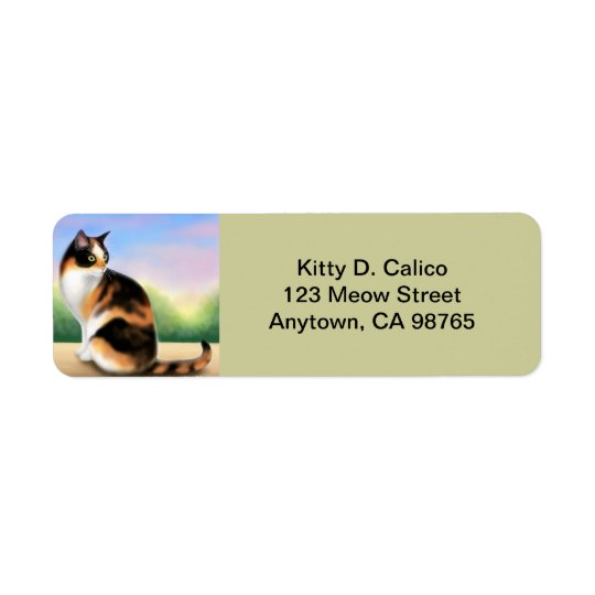 Friendly Calico Cat Customisable