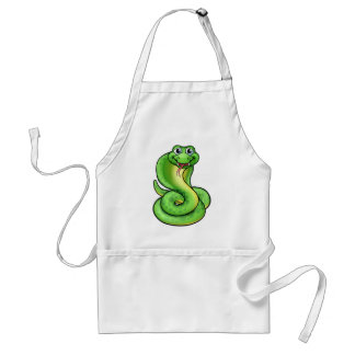 Friendly Cartoon Cobra Snake Standard Apron