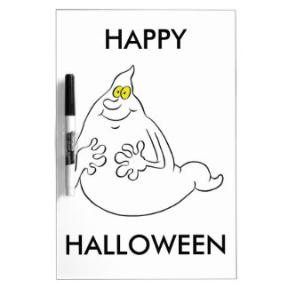 Friendly Cartoon Style Halloween Ghost Dry Erase Whiteboards