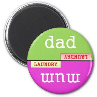 Friendly Chore Fridge Magnet - Laundry
