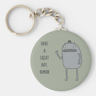Friendly Creature Basic Round Button Key Ring