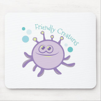 Friendly Creatures Mouse Pad