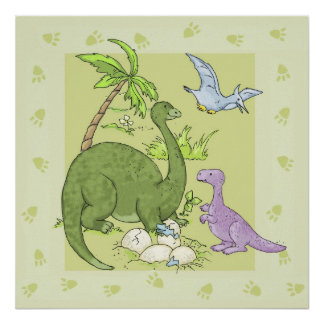 Friendly Dinosaurs Poster