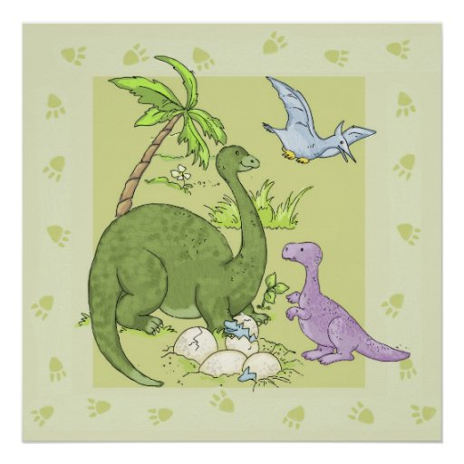 Friendly Dinosaurs Posters