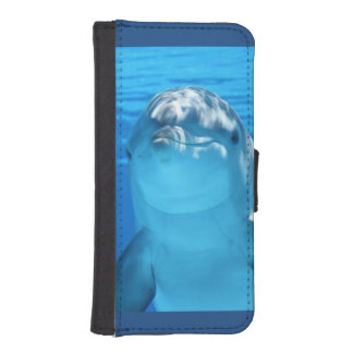 Friendly Dolphin Photo iPhone SE/5/5s Wallet Case