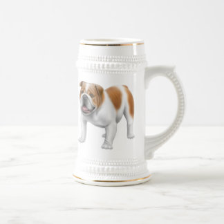 Friendly English Bulldog Stein