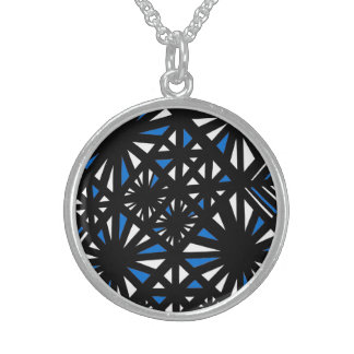 Friendly Enthusiastic Determined Merit Round Pendant Necklace