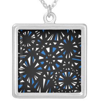 Friendly Enthusiastic Determined Merit Square Pendant Necklace