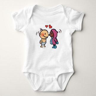 Friendly Eskimo Nose Kisses Kids Baby Bodysuit