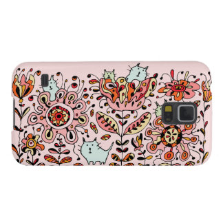 Friendly Flower Cats Pink Samsung Galaxy S5 Case