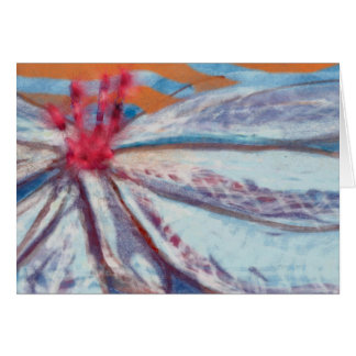 Friendly flower lily thinking of you greeting card