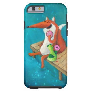 Friendly Fox and Chicken eating donuts Tough iPhone 6 Case