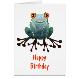 Friendly Frog Birthday Card