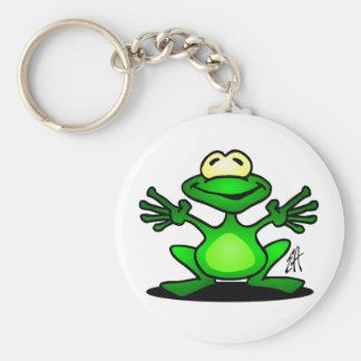 Friendly Frog Basic Round Button Key Ring